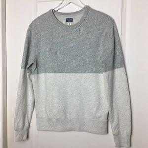 J Crew | pieced colorblock sweatshirt